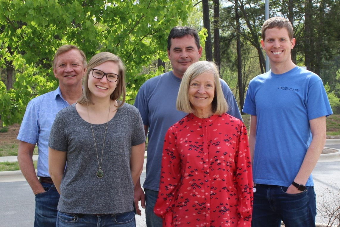 The LifeEdit group, from left to right: Mark Moore, Allie Crawley, Tedd Elich, Lynn Dickey, and Tyson Bowen (Not-pictured: Vinh Pham.