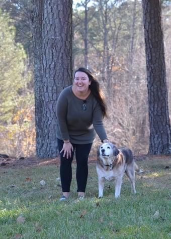 Jenna and dog